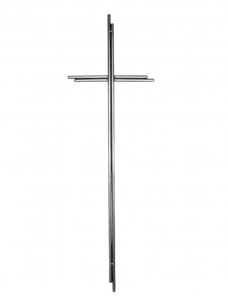 Metallkreuz, Doppel-Rundstab, altmessing, 70 x 20 cm