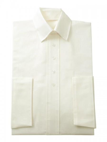Herrenkleid Nr. 280 Baumwolle elfenbein, zeitgemäßer Hemdkragen