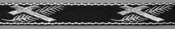Meter Lotband, Kreuz/Palme schwarz/weiß (Rolla à 50 m)