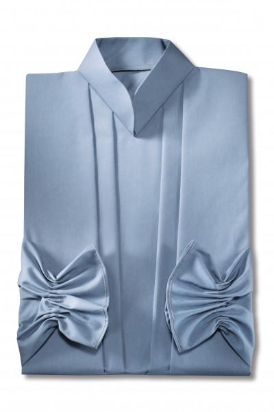 Damenkleid Nr. 461 Baumwolle taubenblau