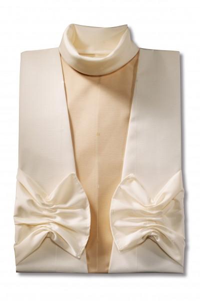 Damenkleid Nr. 436 Aviano crème, apricotfarbener Einsatz