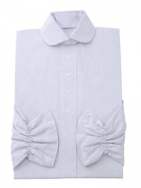 Damenkleid Nr. 409 Baumwolle silbergrau, zeitgemäßer Rundkragen