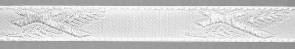 Meter Lotband, weiß, Kreuz/Palme (Rolle à 50 m)
