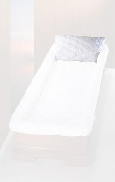 Kissen mit Füllung, BW weiß, 01700 er Steppung, tv