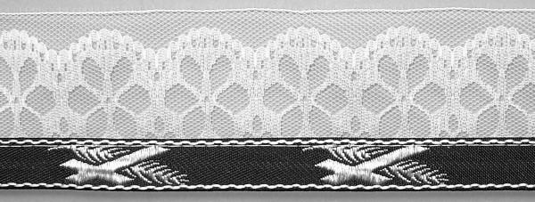 Meter Lotband K/P s/w mit 5 cm breiter Spitze, (100 m /Rolle) (14006/20/Col.1)