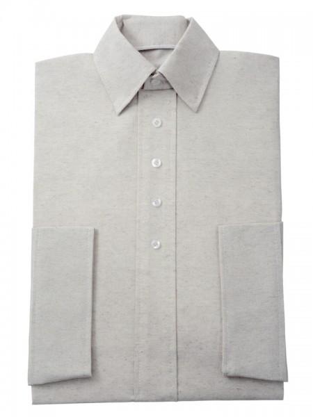 Herrenkleid Nr. 280 Baumwolle natur, zeitgemäßer Hemdkragen