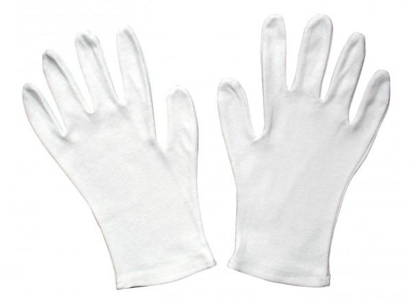 Dtzd. Paar Trägerhandschuhe, Baumwolle weiß I. Wahl