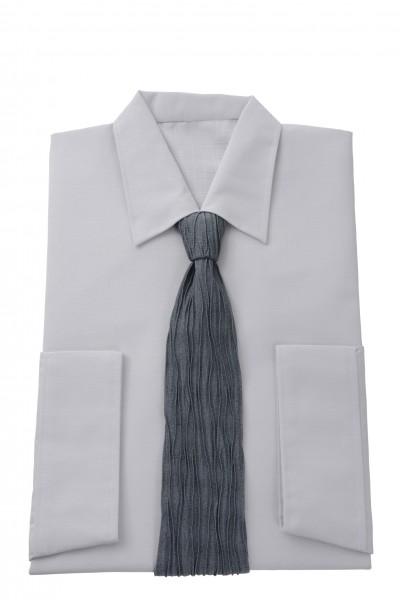 Herrenkleid Nr. 211575 Milano, Krawatte in Crash grau/petrol