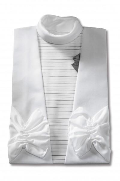 Damenkleid Nr. 406 London weiss, dezent gestreift