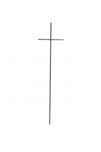 Metallkreuz Nr. 1707 rund, silber/zinnfarbig