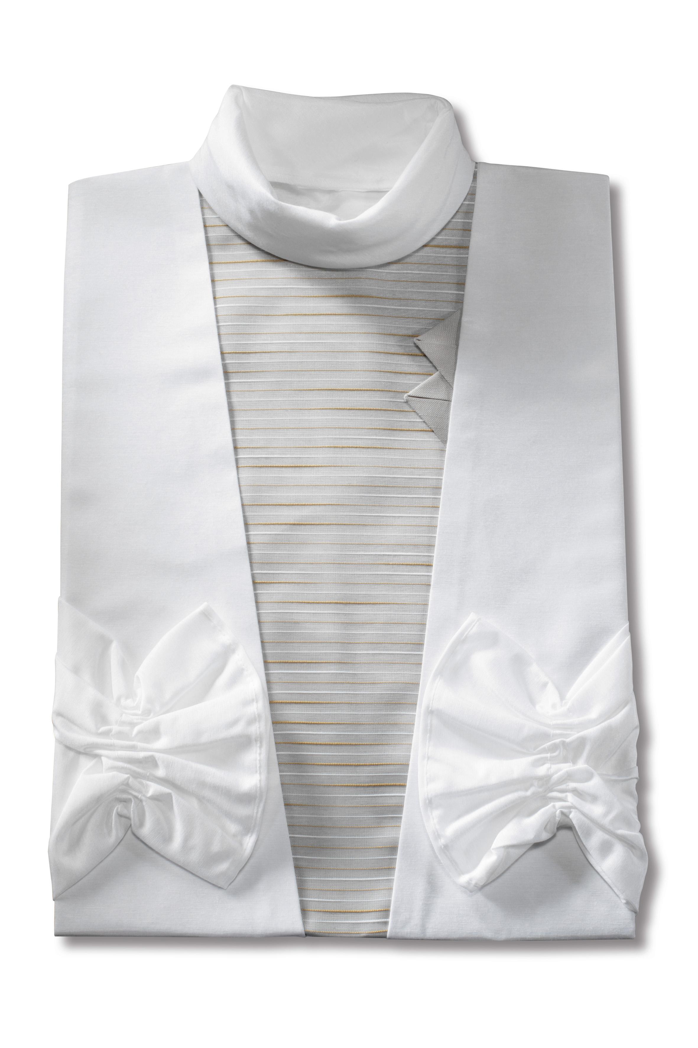 Damenkleid in weiss und grau | Bestattungswäsche Thomas ...