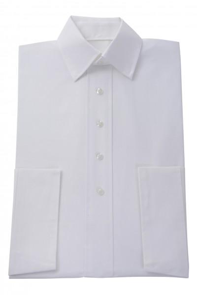 Herrenkleid Nr. 280 Baumwolle, weiß, zeitgemäßer Hemdkragen