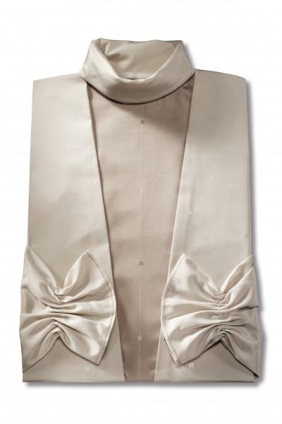 Damenkleid Nr. 436 Aviano beige, dunkelbrauner Einsatz
